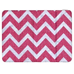Chevron9 White Marble & Pink Denim Samsung Galaxy Tab 7  P1000 Flip Case by trendistuff