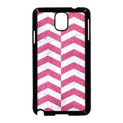 Chevron2 White Marble & Pink Denim Samsung Galaxy Note 3 Neo Hardshell Case (black) by trendistuff