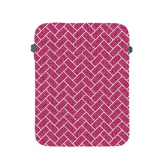 Brick2 White Marble & Pink Denim Apple Ipad 2/3/4 Protective Soft Cases by trendistuff