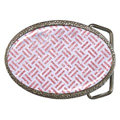 Woven2 White Marble & Pink Glitter (r) Belt Buckles by trendistuff