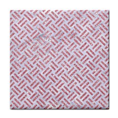 Woven2 White Marble & Pink Glitter (r) Face Towel by trendistuff
