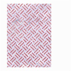 Woven2 White Marble & Pink Glitter (r) Small Garden Flag (two Sides) by trendistuff