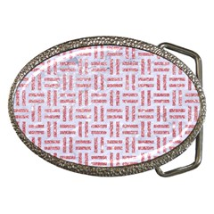 Woven1 White Marble & Pink Glitter (r) Belt Buckles by trendistuff