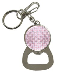 Woven1 White Marble & Pink Glitter (r) Bottle Opener Key Chains by trendistuff
