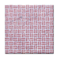 Woven1 White Marble & Pink Glitter (r) Face Towel by trendistuff