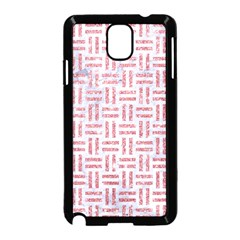 Woven1 White Marble & Pink Glitter (r) Samsung Galaxy Note 3 Neo Hardshell Case (black) by trendistuff