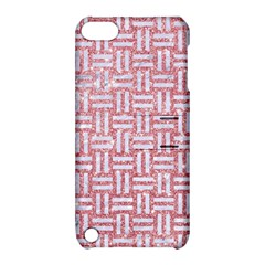 Woven1 White Marble & Pink Glitter Apple Ipod Touch 5 Hardshell Case With Stand by trendistuff
