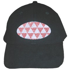 Triangle3 White Marble & Pink Glitter Black Cap by trendistuff