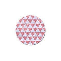 Triangle3 White Marble & Pink Glitter Golf Ball Marker (10 Pack) by trendistuff