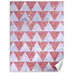 Triangle2 White Marble & Pink Glitter Canvas 36  X 48   by trendistuff