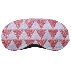 Triangle2 White Marble & Pink Glitter Sleeping Masks by trendistuff