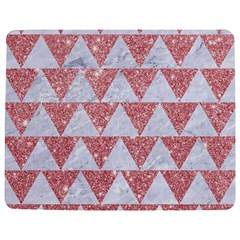 Triangle2 White Marble & Pink Glitter Jigsaw Puzzle Photo Stand (rectangular) by trendistuff