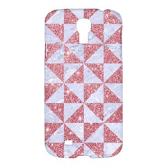 Triangle1 White Marble & Pink Glitter Samsung Galaxy S4 I9500/i9505 Hardshell Case by trendistuff