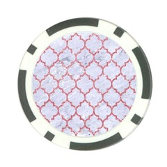 Tile1 White Marble & Pink Glitter (r) Poker Chip Card Guard by trendistuff