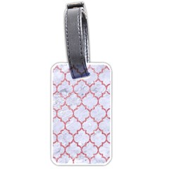 Tile1 White Marble & Pink Glitter (r) Luggage Tags (one Side)  by trendistuff
