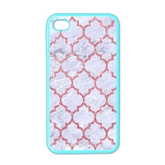 Tile1 White Marble & Pink Glitter (r) Apple Iphone 4 Case (color) by trendistuff