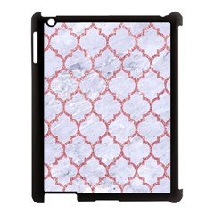 Tile1 White Marble & Pink Glitter (r) Apple Ipad 3/4 Case (black) by trendistuff