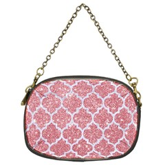 Tile1 White Marble & Pink Glitter Chain Purses (two Sides)  by trendistuff