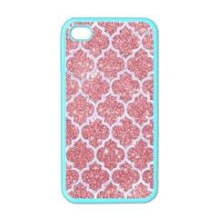 Tile1 White Marble & Pink Glitter Apple Iphone 4 Case (color) by trendistuff