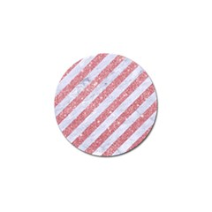 Stripes3 White Marble & Pink Glitter (r) Golf Ball Marker (10 Pack) by trendistuff