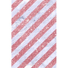 Stripes3 White Marble & Pink Glitter (r) 5 5  X 8 5  Notebooks by trendistuff