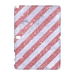 Stripes3 White Marble & Pink Glitter (r) Galaxy Note 1