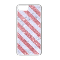Stripes3 White Marble & Pink Glitter Apple Iphone 7 Plus Seamless Case (white) by trendistuff