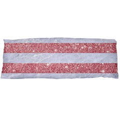 Stripes2white Marble & Pink Glitter Body Pillow Case Dakimakura (two Sides) by trendistuff