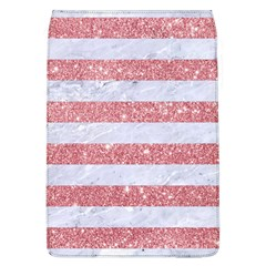 Stripes2white Marble & Pink Glitter Flap Covers (l)  by trendistuff