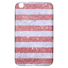 Stripes2white Marble & Pink Glitter Samsung Galaxy Tab 3 (8 ) T3100 Hardshell Case  by trendistuff