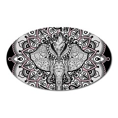Ornate Hindu Elephant  Oval Magnet by Valentinaart