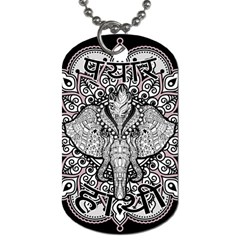 Ornate Hindu Elephant  Dog Tag (two Sides)