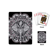 Ornate Hindu Elephant  Playing Cards (mini)  by Valentinaart