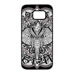 Ornate Hindu Elephant  Samsung Galaxy S7 Edge Black Seamless Case by Valentinaart