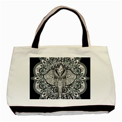 Ornate Hindu Elephant  Basic Tote Bag (two Sides) by Valentinaart