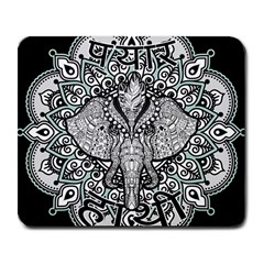 Ornate Hindu Elephant  Large Mousepads by Valentinaart