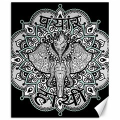 Ornate Hindu Elephant  Canvas 20  X 24   by Valentinaart
