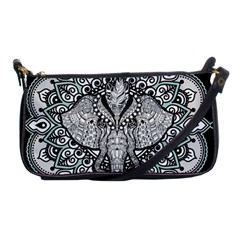 Ornate Hindu Elephant  Shoulder Clutch Bags