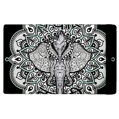Ornate Hindu Elephant  Apple Ipad 3/4 Flip Case by Valentinaart