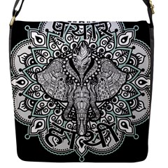 Ornate Hindu Elephant  Flap Messenger Bag (s)