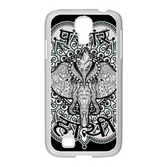 Ornate Hindu Elephant  Samsung Galaxy S4 I9500/ I9505 Case (white) by Valentinaart