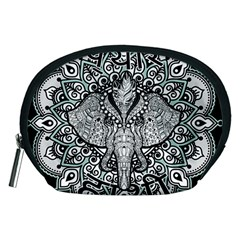 Ornate Hindu Elephant  Accessory Pouches (medium)  by Valentinaart