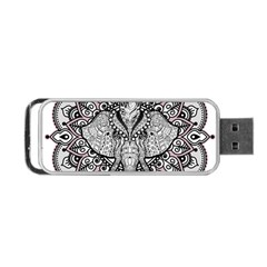 Ornate Hindu Elephant  Portable Usb Flash (two Sides) by Valentinaart