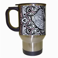 Ornate Hindu Elephant  Travel Mugs (white) by Valentinaart