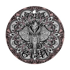 Ornate Hindu Elephant  Round Ornament (two Sides) by Valentinaart