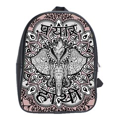 Ornate Hindu Elephant  School Bag (large) by Valentinaart
