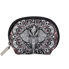 Ornate Hindu Elephant  Accessory Pouches (small)  by Valentinaart