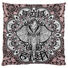 Ornate Hindu Elephant  Large Flano Cushion Case (two Sides)