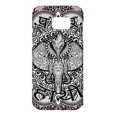 Ornate Hindu Elephant  Samsung Galaxy S7 Edge Hardshell Case by Valentinaart