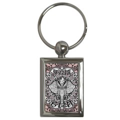 Ornate Hindu Elephant  Key Chains (rectangle)  by Valentinaart
